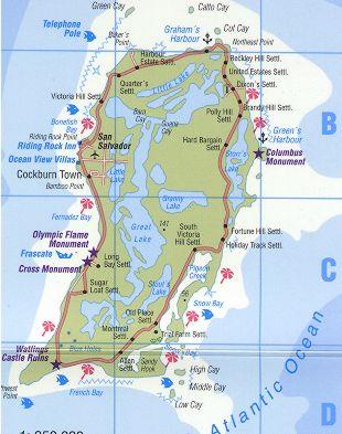 Map Of San Salvador Island Bahamas